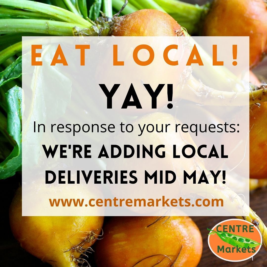 Thanks for supporting our local producers! In response to your requests - we'll be able to start contactless deliveries mid May! And stay tuned for more vendors and products being added