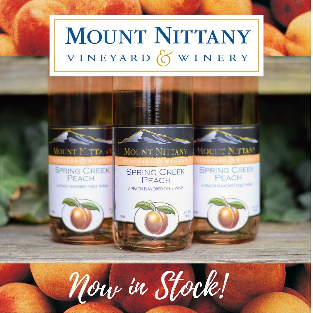 Bottled just last week, our Spring Creek Peach is now in stock and available for curbside pick-up, free local Friday delivery or free shipping on 6+ bottles! It smells and tastes like freshly picked, fully-ripe peaches - a great spring/summer wine! Shop o