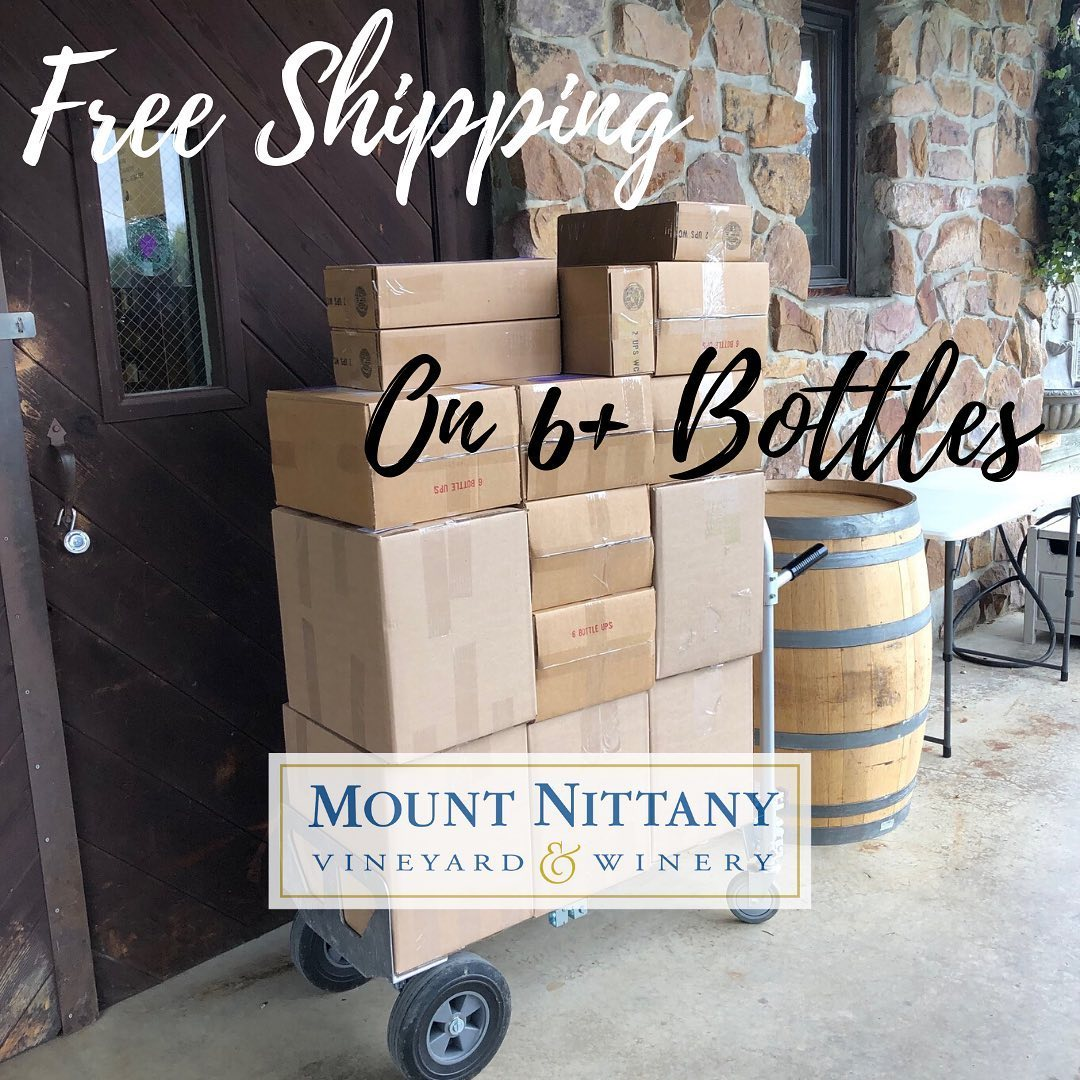Memorial Day Special - Free Shipping on 6+ bottles of wine! This great deal lasts until May 31. Buy online at www.mtnittanywinery.com/shop, or pick up at the winery and get 10% off instead on 6+ bottles. We are open 1-3pm (Tuesday-Saturday) - call ahead t