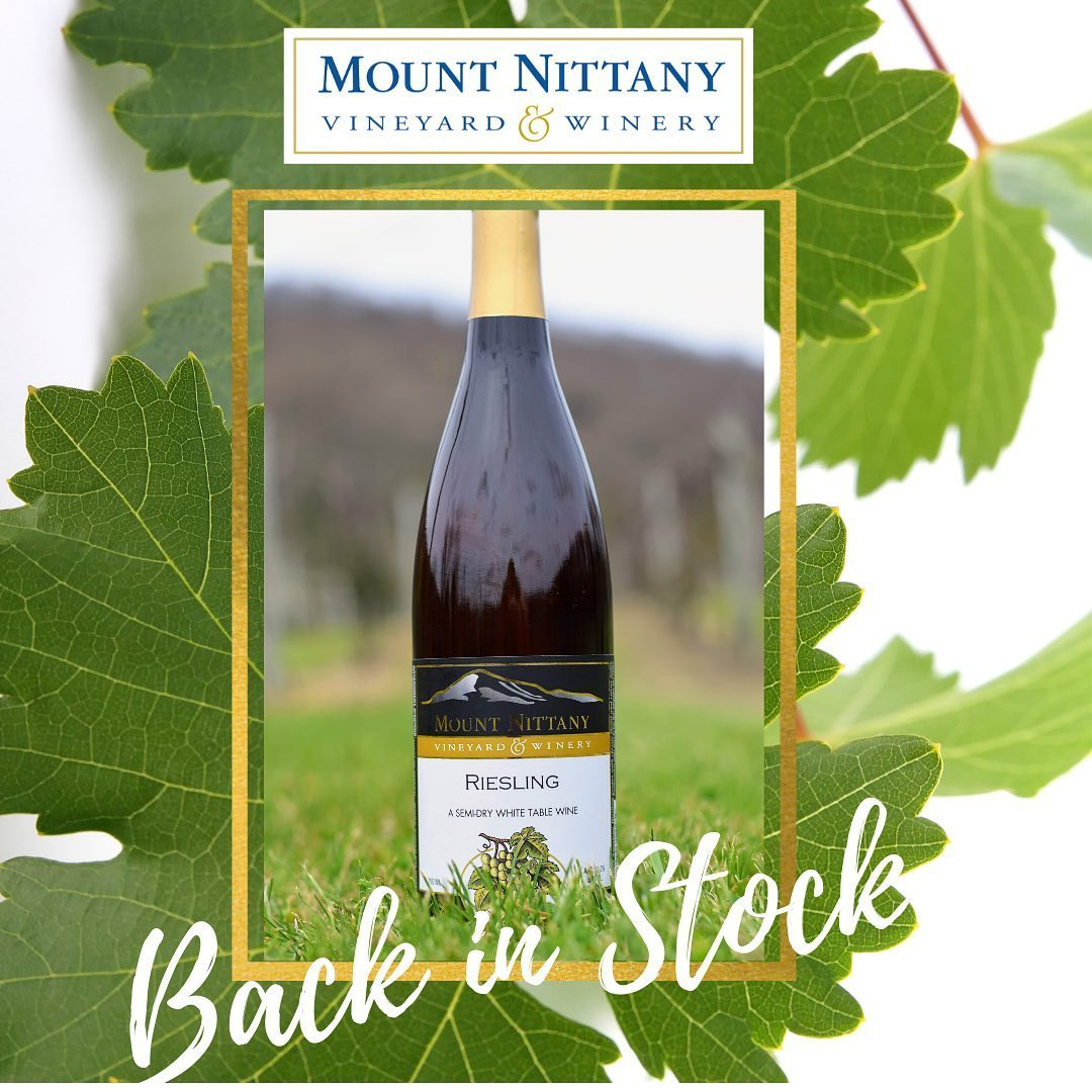 Good news! Our Riesling is back in stock. This wine has fresh, varietal character expressed in the classic floral and citrus notes of the Riesling grape. It's another great summertime wine and a great match for spicy foods. Come on out to the winery and t