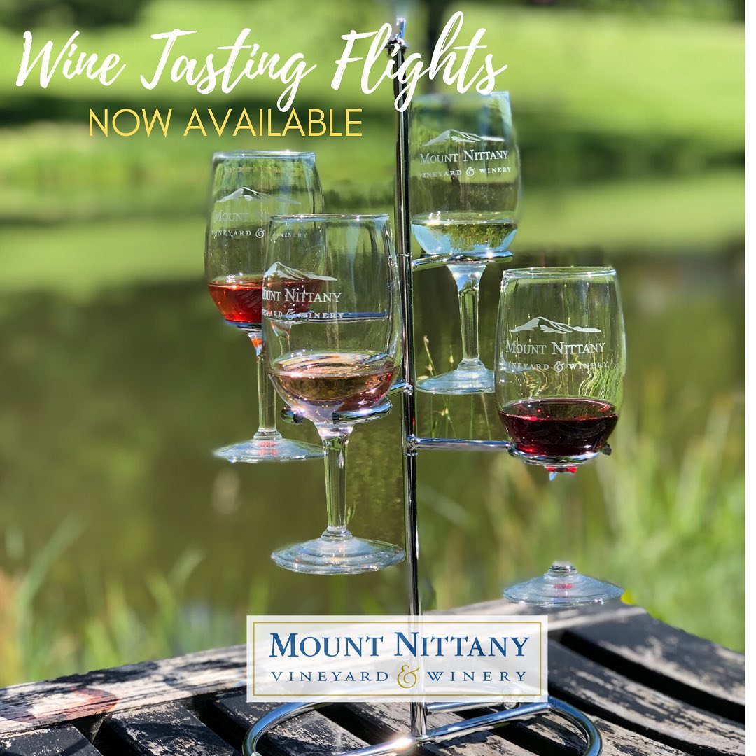 We have resumed normal business hours (Tues-Fri 11-5, Sat 10-5, Sun 12-5). While we are not doing counter tasting, we are offering wine tasting flights and bottle sales which you can take to outside seating. We have covered deck seating as well as many pi