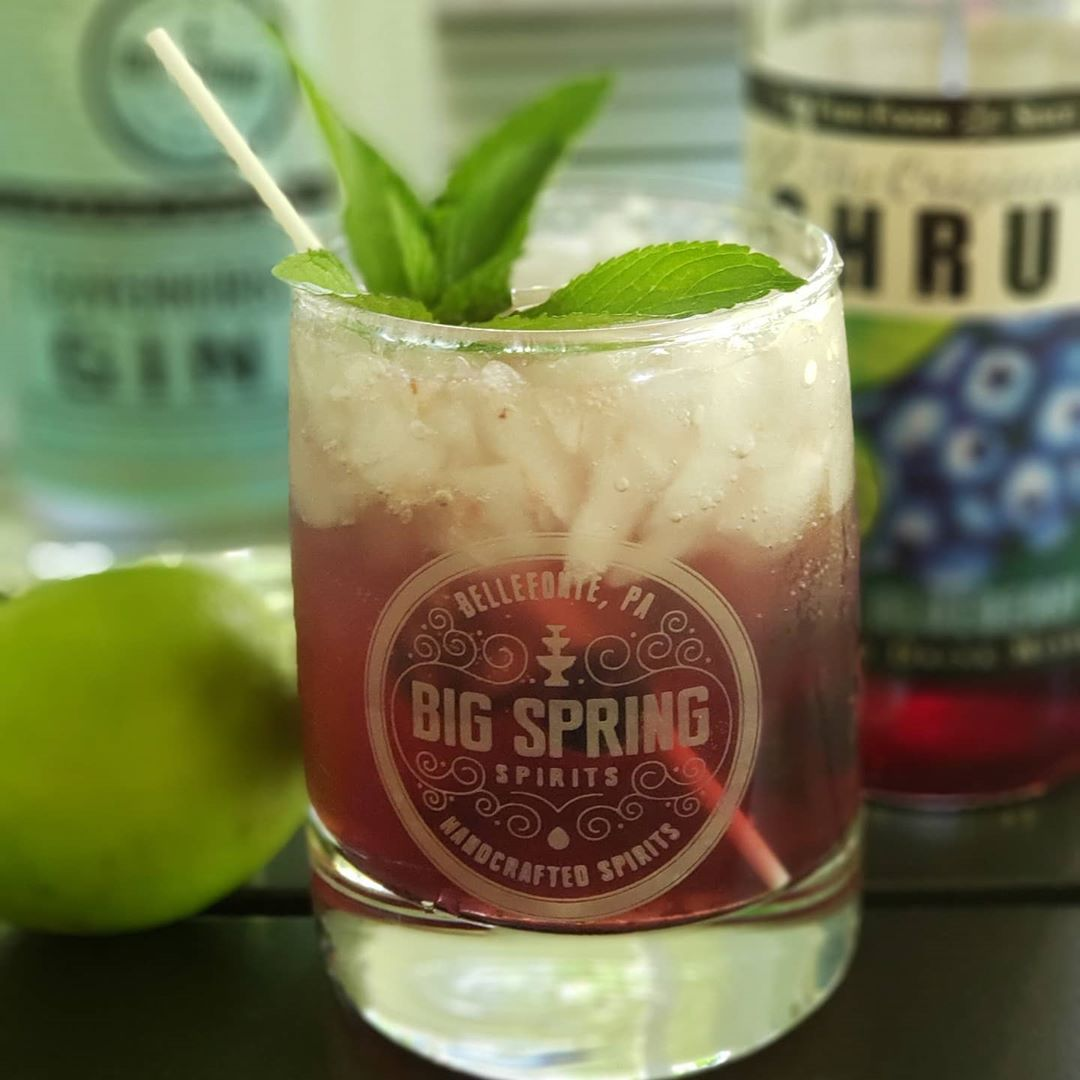 TGIF #drinkhappyvalley #drinklocal @taitfarmfoods @bigspringspirits #blueberryshrub #happyvalleypa #HVAgventures